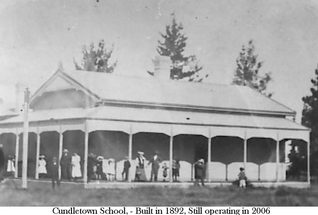 Cundletown School taken early 1900's Built 1892 Still operational 2005